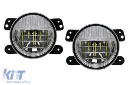 Full LED Fog Lights 4 Inch suitable for JEEP Wrangler JK TJ JL (1996-2018) - FLJEWRSMFL