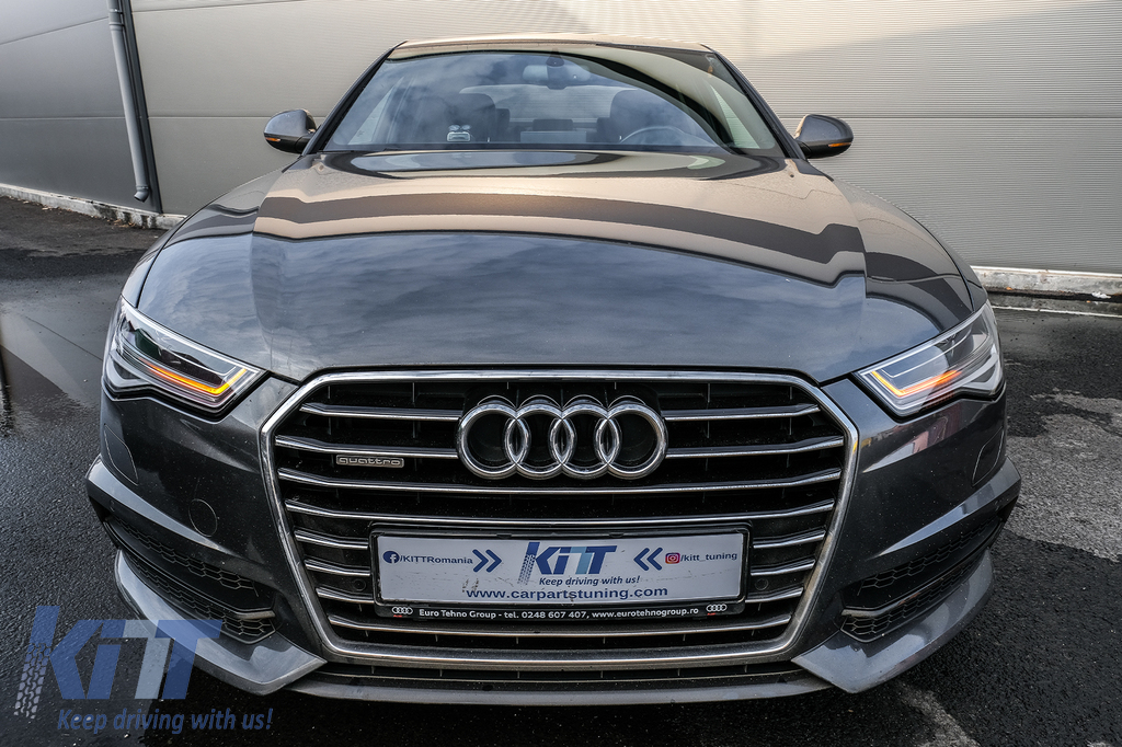 Full Led Headlights Suitable For Audi A6 4g C7 2011 2018 Facelift Matrix Design Sequential Dynamic Turning Lights Carpartstuning Com