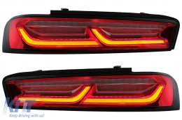 Full LED Taillights Light Bar suitable for Chevrolet Camaro (2015-2017) Red with Sequential Dynamic Turning Lights - TLCHECAMAROR