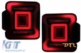 Full LED Taillights suitable for Jeep Wrangler IV JL/JLU (2018-up) RED with Dynamic StartUp and Sequential Turning Lights - TLJEWJL