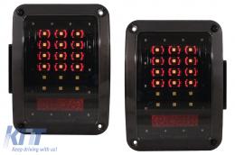 Full LED Taillights suitable for JEEP Wrangler JK 2007-2017 Smoke - TLJEWRJK
