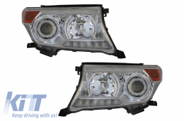 Head Lamps LED DRL Suitable for TOYOTA Land Cruiser FJ200 (2008-2012) Upgrade to Facelift 2012 Model - HLTOLC200