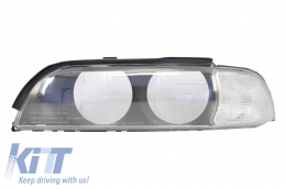 Headlight Glass Lens Replacement suitable for BMW 5 Series E39 Pre Facelift (1996-2000) Left Side - 960459L