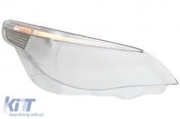 Headlight Lens Glass Right Side suitable for BMW 5 Series E60 E61 Non-LCI (2003-03.2007) Limousine Touring - HGBME60R