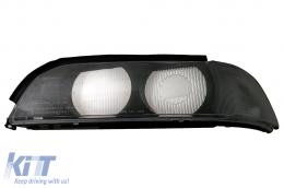 Headlight Lens Left Side Smoke Grey suitable for BMW 5 Series E39 (1995-2000) - HGBME39SL