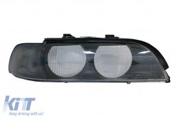 Headlight Lens Right Side Smoke Grey suitable for BMW 5 Series E39 (1995-2000) - HGBME39SR