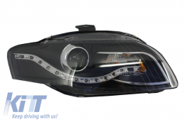 Headlight Replacement AUDI A4 B7 (2004-2008) Black Right Side