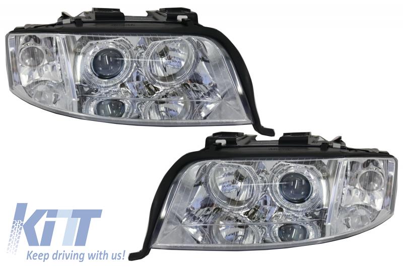 Headlights Angel Eyes Xenon Suitable For Audi A6 4b C5 2001 2004