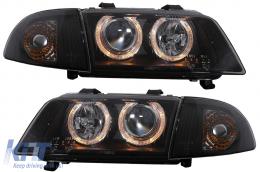 Headlights Angeleyes AUDI A4 B5 (1995-1998) 2 Halo Rims - SWA02DB