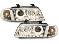 headlights AUDI A4 B5 95-98 _ 2 halo rims - SWA02D