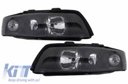Headlights Audi A4 B6 (2000-2004) RHD / LHD Drive Black - HLAUA4B6/LPAU55