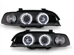 headlights BMW E39 5er 95-00_2 CCFL halo rims_black