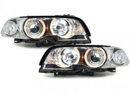 headlights BMW E46 2D 98-02 _ 2 halo rims