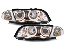 headlights BMW E46 4D 98-01 _ 2 halo rims
