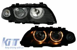 headlights BMW E46 4D 98-01 _ 2 halo rims_black