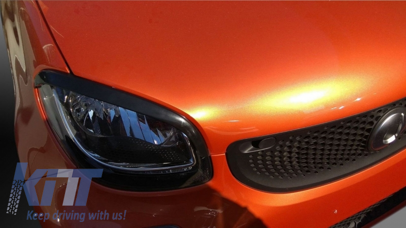 Headlights Covers Eyebrows Trim suitable for SMART ForTwo C453 A453  (2014-Up)