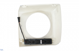 Headlights Covers with LED DRL Daytime Running Lights Mercedes Benz G-Class W463 (1989-up) G65 AMG Design Chrome
