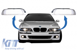 Headlights Glases Lens suitable for BMW 5 Series E39 Facelift (2000-2003) - HGBME39