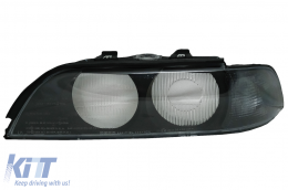 Headlights Glases SMOKE Grey suitable for BMW E39 (1995-2000) LEFT SIDE - HGBME39SL