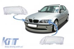 Headlights Glasses suitable for BMW 3 Series E46 LCI Facelift Sedan/Touring (2001-2004) - HGBME464DF