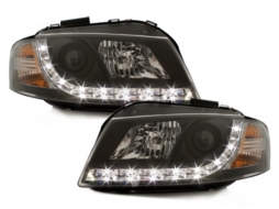 Headlights LED DRL DAYLIGHT suitable for Audi A3 8P (05.2003-03.2008) Black