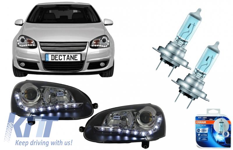headlights led drl with osram cool blue intense h7 halogen. Black Bedroom Furniture Sets. Home Design Ideas