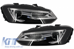 Headlights LED XENON HID VW Volkswagen POLO 6R/6C/61 (2011-2017) Devil Eye Look - HLVWPOMK6