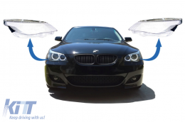 Headlights Lens Glasses suitable for BMW 5 Series E60 E61 Non-LCI (2003-03.2007) Limousine Touring - HGBME60