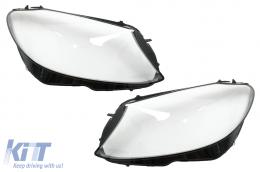Headlights Lens Glasses suitable for Mercedes C-Class W205 Sedan (2014-2018) Clear Glass Optics - HGMBW205