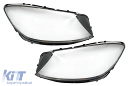 Headlights Lens Glasses suitable for Mercedes S-Class W222 (07.2017-2020) Clear Glass Optics - HGMBW222