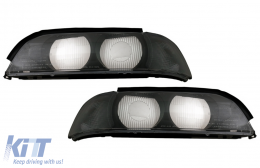 Headlights Lens Left and Right Side Smoke Grey suitable for BMW 5 Series E39 (1995-2000) - COHGBME39SLSR