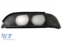 Headlights Lens Left Side Smoke Grey suitable for BMW 5 Series E39 (1995-2000) - HGBME39SL