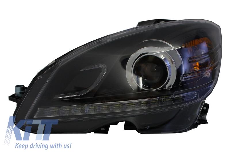 Headlights mercedes benz c class w204 2007 2010 facelift for Mercedes benz xenon headlights