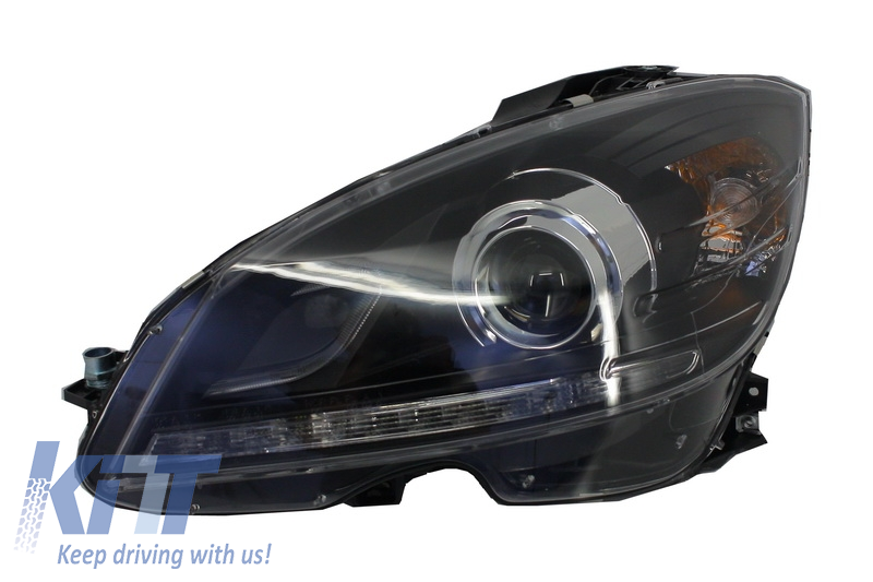Headlights mercedes benz c class w204 2007 2010 facelift for Mercedes benz low beam bulb