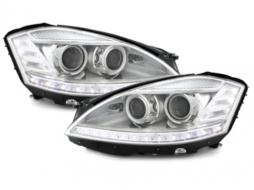 headlights Mercedes Benz W220 S class 98-01_XENON_chrome