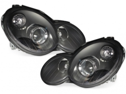 Headlights suitable for MERCEDES Benz Sport Coupe W203 C203 (2001-2008) Black