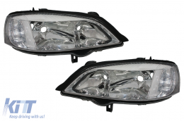 Headlights suitable for OPEL Astra G (1997-2004) Clear OEM - HLOAG