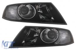 Headlights suitable for Skoda Octavia II (2004-2008) Black - HLSKOC2B