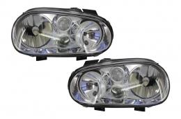 Headlights Volkswagen suitable for VW Golf IV 4 (1997-2003) Clear OEM - HLVWG4