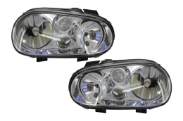 Headlights Volkswagen VW Golf IV 4 (1997-2003) Clear OEM - HLVWG4