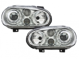 Headlights VW Golf 4 IV 97-04 R32 Look Chrome
