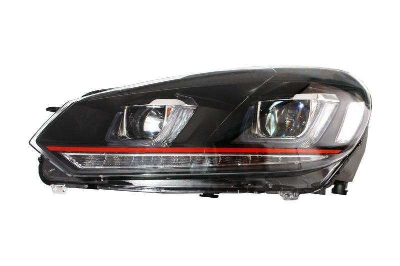 headlights vw golf 6 vi 2008 2013 golf 7 3d led drl u. Black Bedroom Furniture Sets. Home Design Ideas