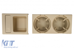 Holder Cup and Coin Box suitable for BMW 3 Series E46 (1998-2005) Beige - CHBME46BJ