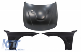 Hood Bonnet with Front Fenders Black suitable for BMW 3 Series F30 F31 (2011-2019) M3 GTS Look - COHDBMF30M3GTSFFB