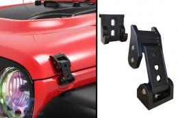 Hood Catches Lock Kit suitable for Jeep Wrangler JK JL (2007-2018) Satin Black Finish - BRHDJEWJK