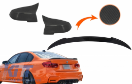 Kit Mirror Covers and Trunk Spoiler suitable for 3 Series F30 2011-2018 M4 Design Real Carbon - CO89713CFR