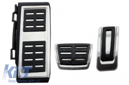KIT OF PEDAL FOOTREST Volkswagen VW Golf 7, Passat B8, Tiguan 2016, Touran 2016, Audi A1 8x, A3 8V, TT 8s, Q2, Seat Leon 3 5 F Automati Gearbox - KPVW03