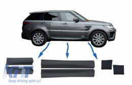 Kit Package Front/Rear Lower Door Moldings and Front Lower Fender suitable for Land Rover Range Rover Sport L494 (2013-up) - COLBR14038LBR