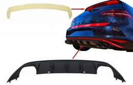 Kit Rear Bumper Air Diffuser with Roof Spoiler suitable for VW Golf 7 VII (2013-2017) ABT Look - CORDVWG7ABTR
