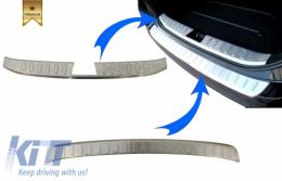 KIT Rear Bumper Protector Sill Plate Foot Plate Aluminum Cover suitable for BMW X1 E84 non LCI (2009-2012) - COFPBME84